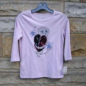 Girls Sequin Owl Long Sleeve T-Shirt